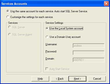 First install the ms sql server 2000 by clicking the setup file